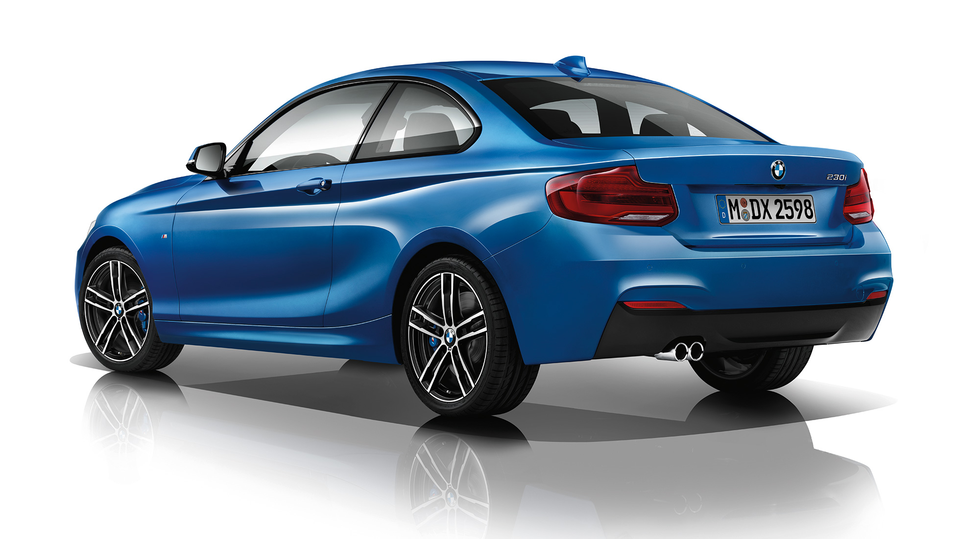 BMW 2 Series Coupé, Model M Sport three-quarter rear shot