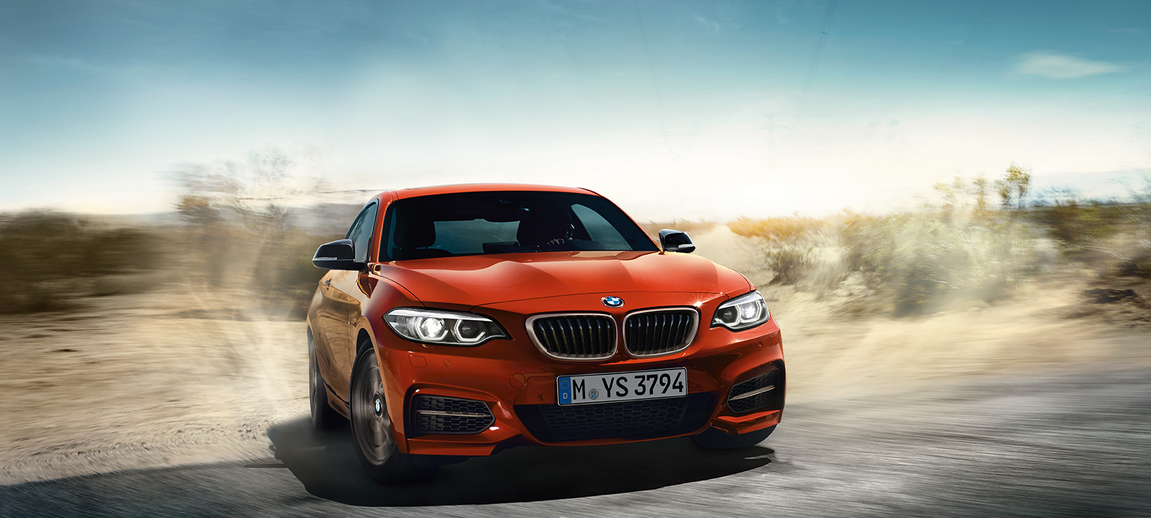 BMW 2 Series Coupé, dynamic driving shot
