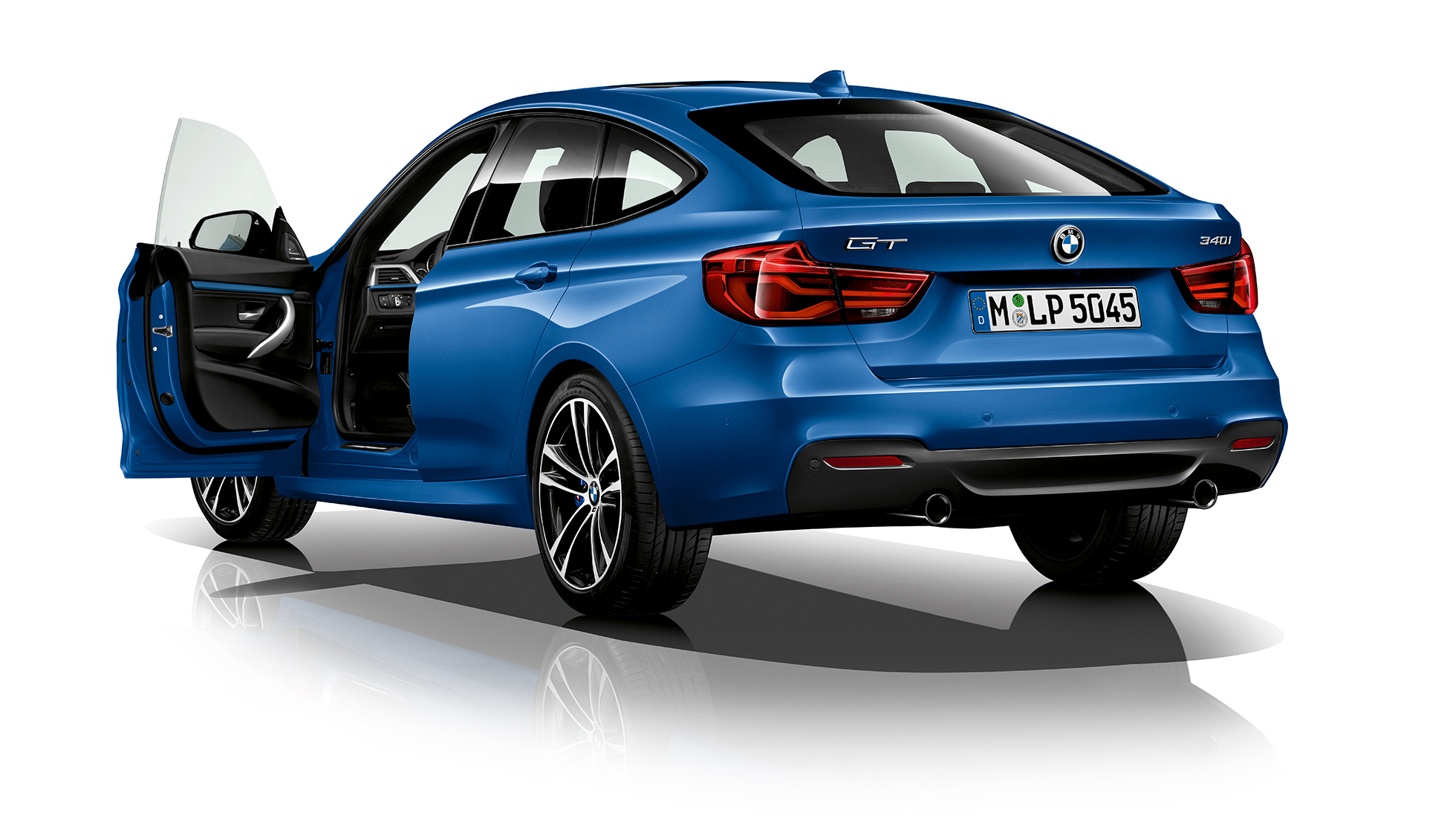 BMW 3 Series Gran Turismo, Model M Sport three-quarter rear shot