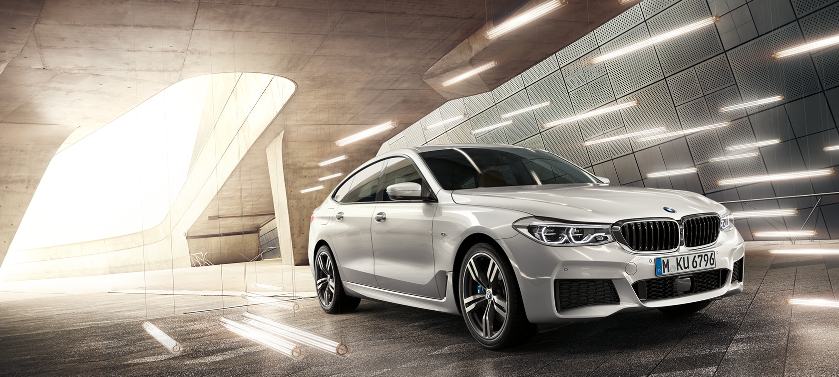 BMW 6 Series Gran Turismo G32 2017 Mineral White metallic three-quarter front view