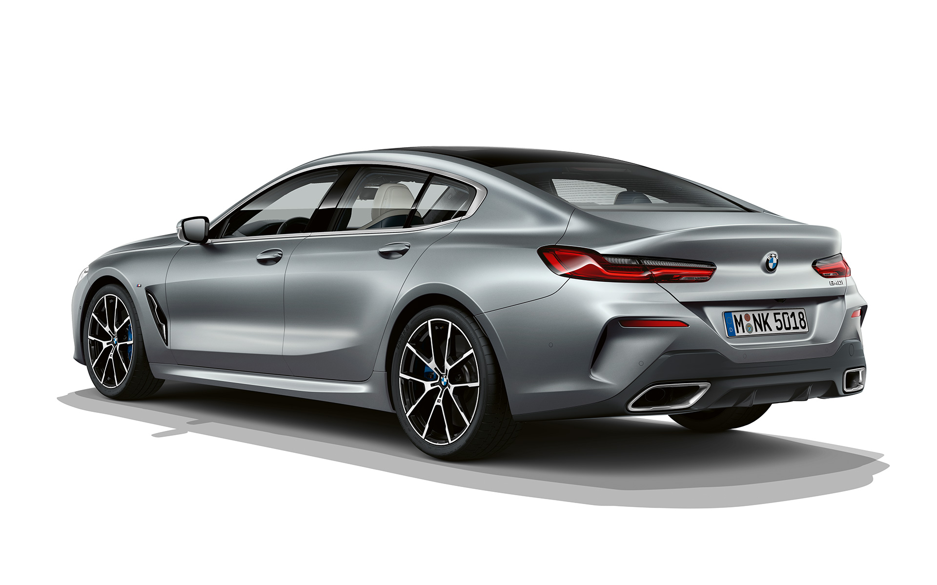BMW 8 Series Gran Coupé, Frozen Temptation three quarter rear shot