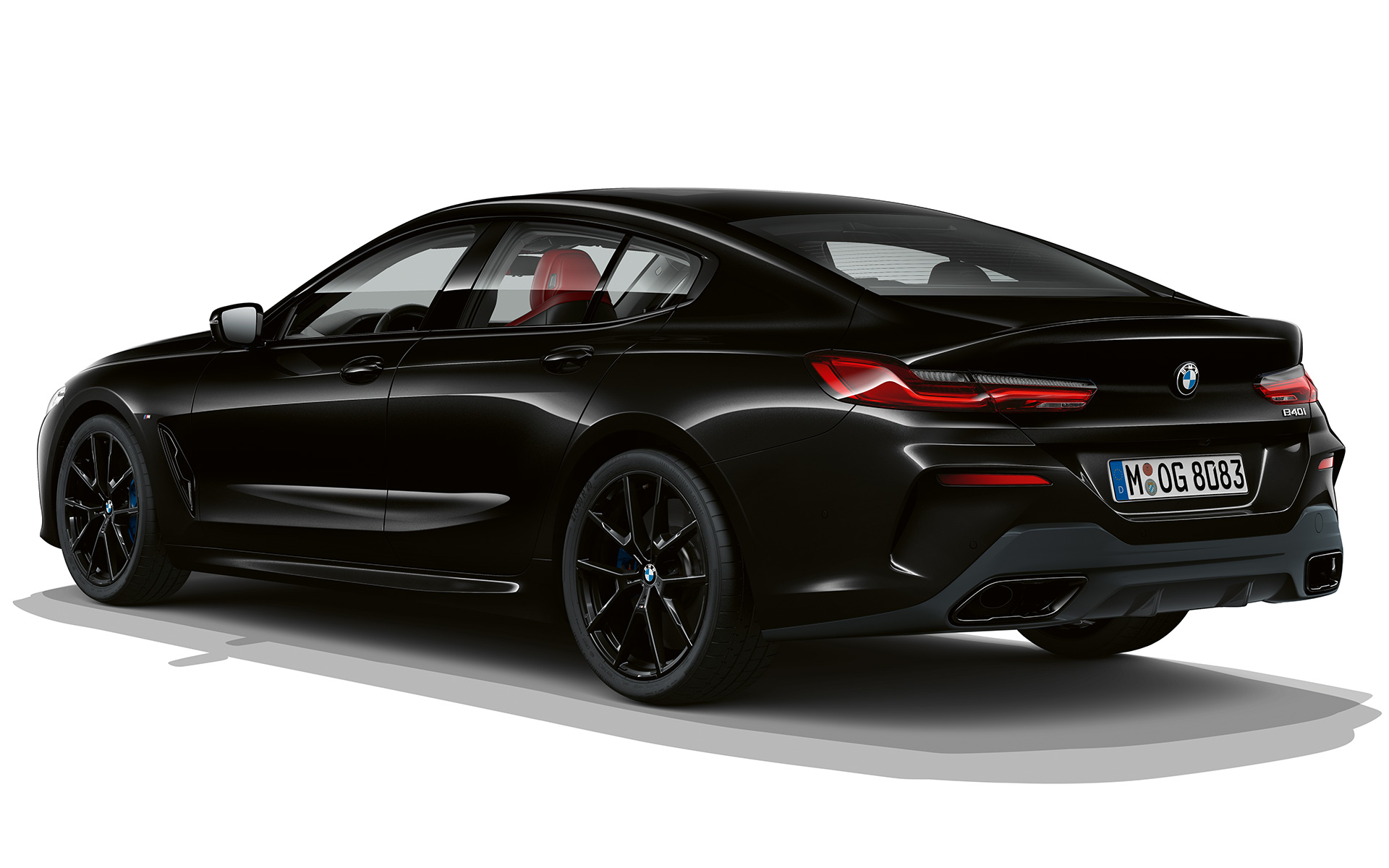 BMW 8 Series Gran Coupé, Dark Seduction three quarter rear shot
