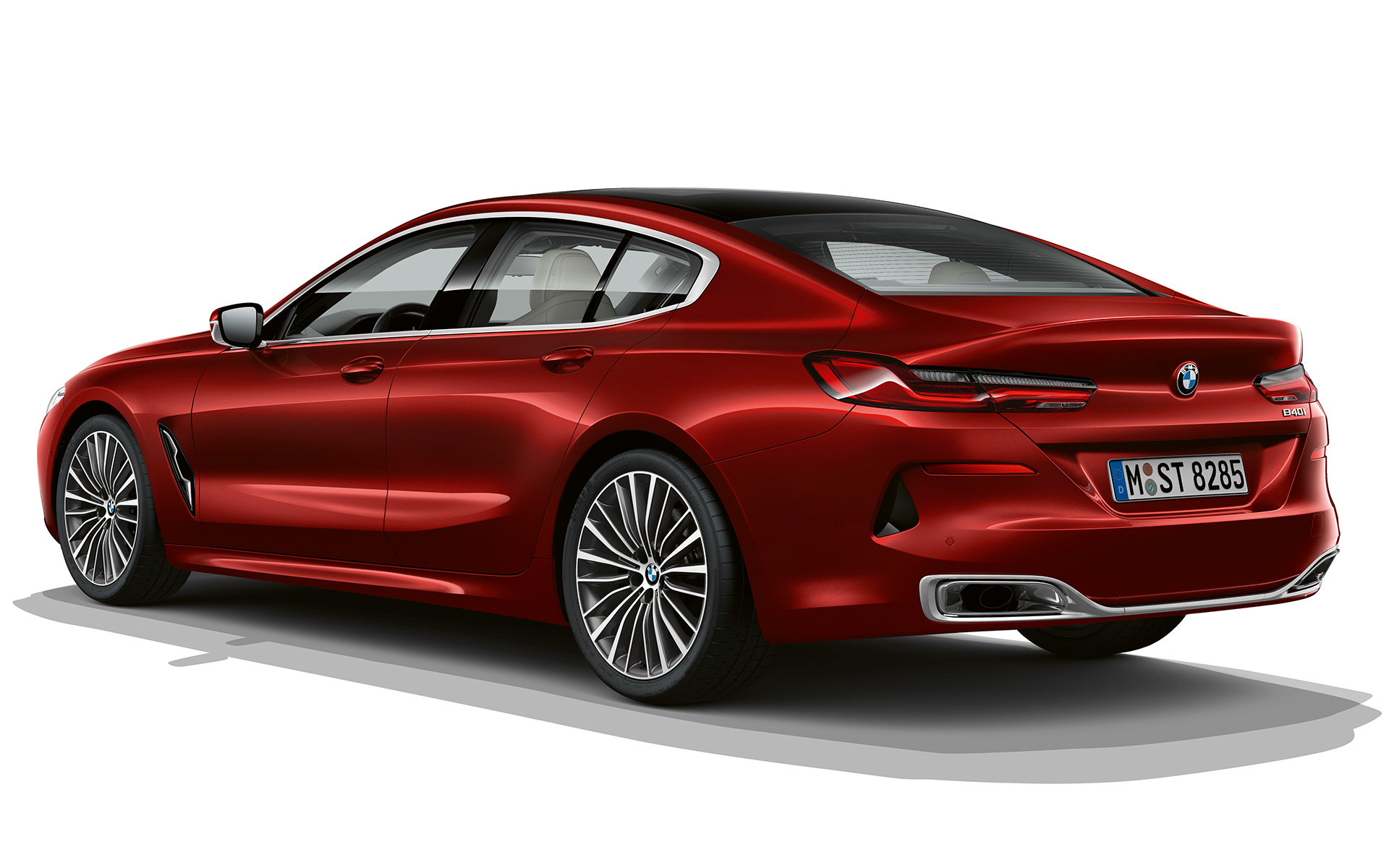 BMW 8 Series Gran Coupé, Impulsive Heat three quarter rear shot