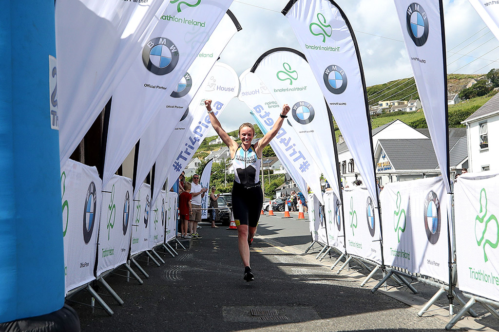 Image of a competitor in the BMW Triathlon