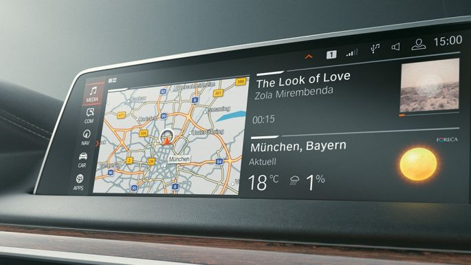 BMW 7 Series Saloon: GPS Navigation System on Control Display