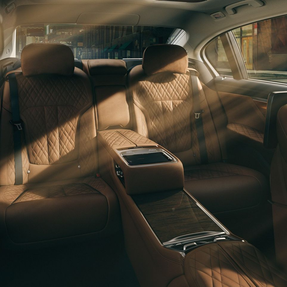 Experience Modes: comfortable interior design of the BMW 7 Series Saloon